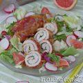 involtini di pollo e pancetta al pompelmo