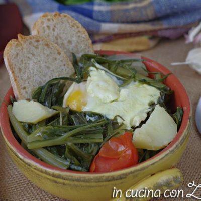 Acquacotta cicoria e uovo della Tuscia