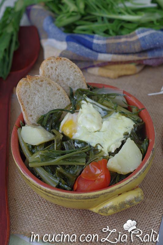 Acquacotta cicoria e uovo della Tuscia, acquacotta viterbese
