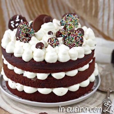 Naked cake al cacao – torta nuda