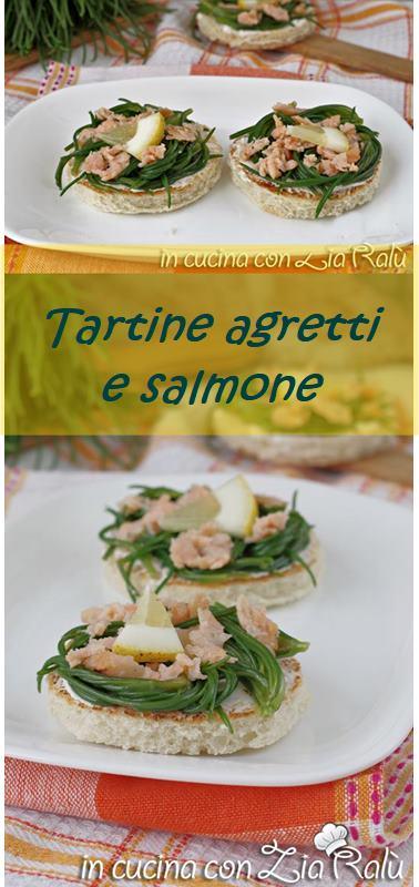 crostini agretti e salmone antipasto sfizioso