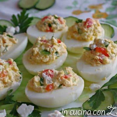 uova ripiene alla greca