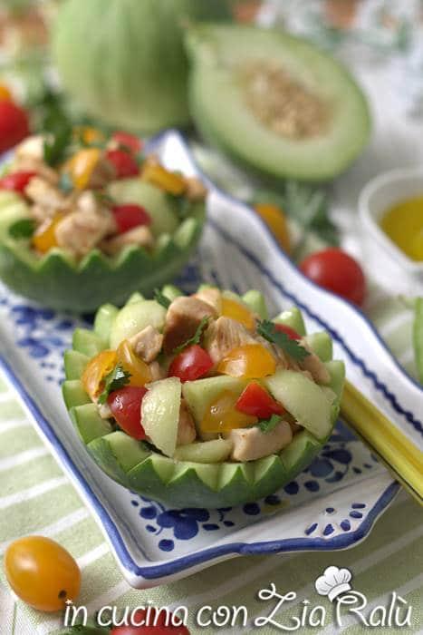 insalata pollo e verdure