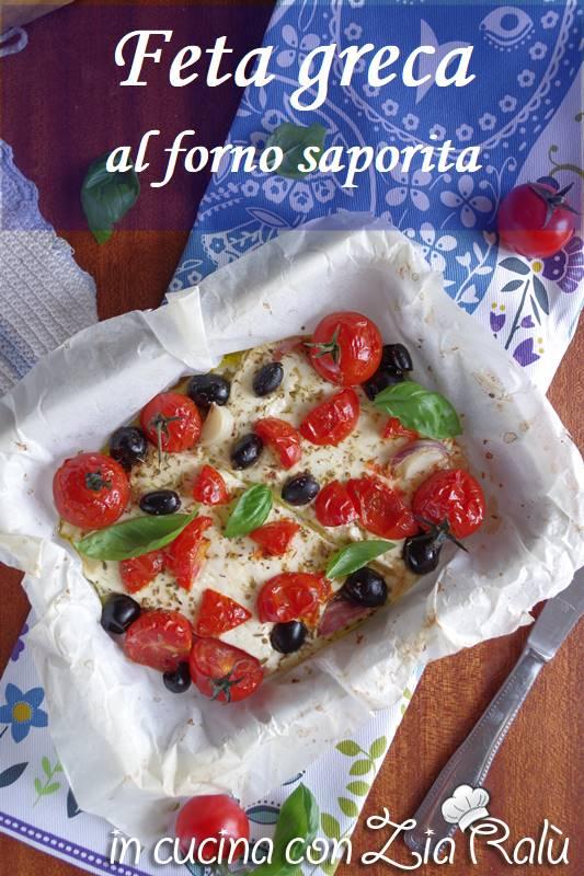feta al forno e olive