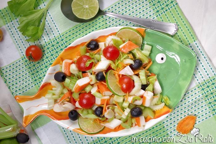 insalata di surimi polpa di granchio