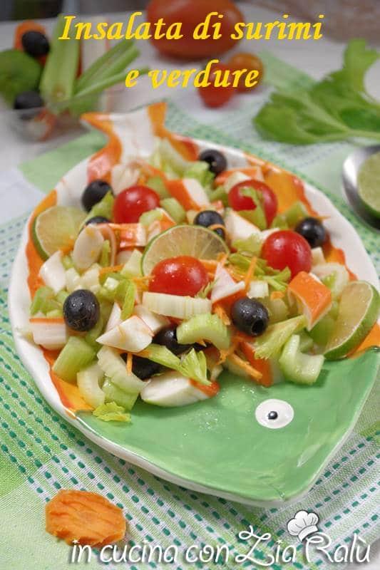 insalata polpa di granchio e verdure