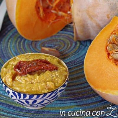 pesto alla zucca e pomodori secchi sott'olio