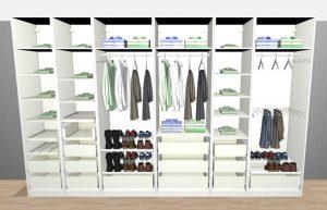Vår nya platsbyggda garderob