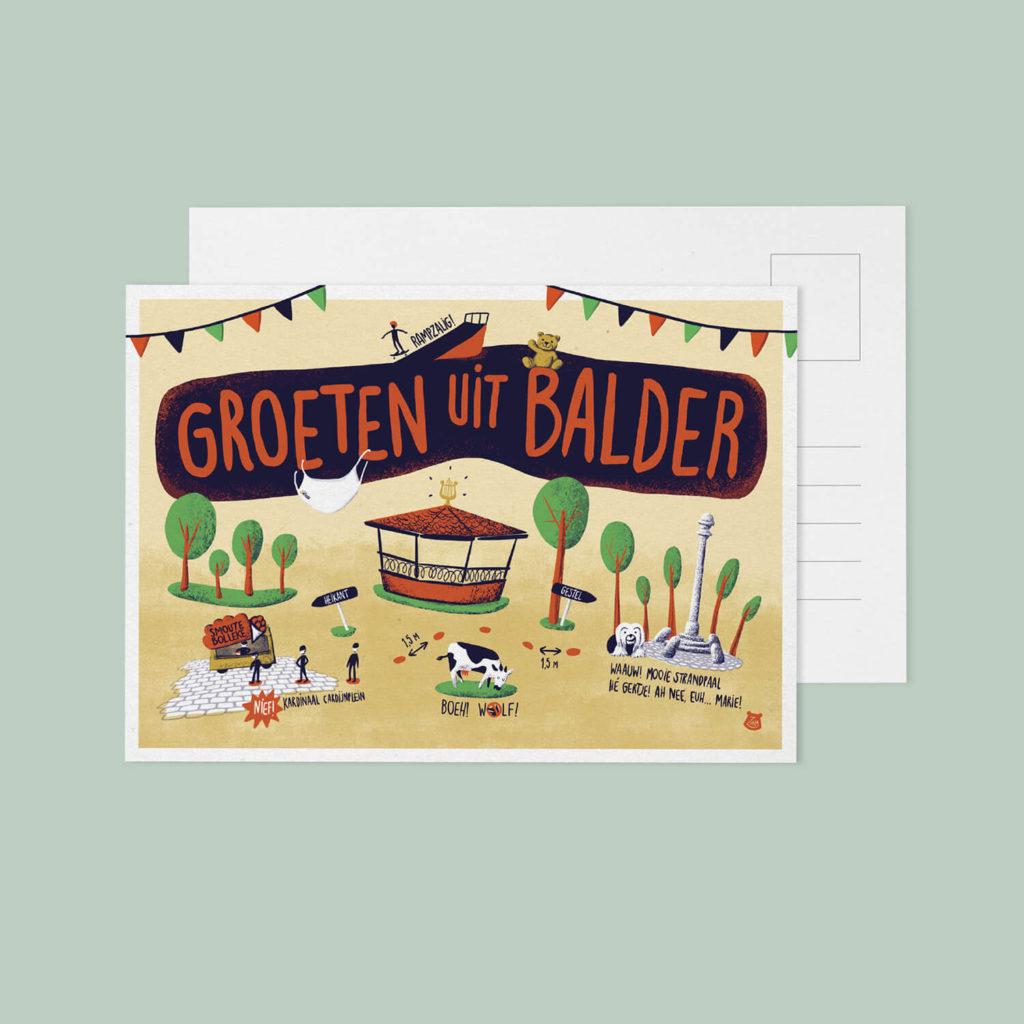 zirla_illustratie_postkaart_groetenuitbalder2020