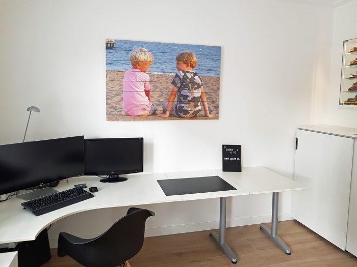 Foto op hout in de werkkamer