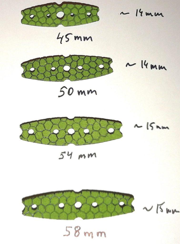SnakeSkin Pouches Sizes