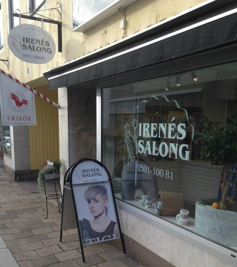 Ingång frisörsalong Irenés Salong
