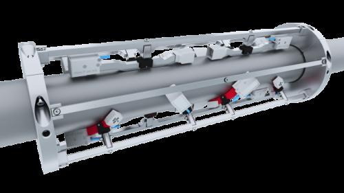 Xsens Ultrasonic Flowmeter - assembly on pipe
