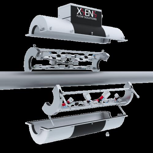 Xsens Ultrasonic Flowmeter - clamp on design