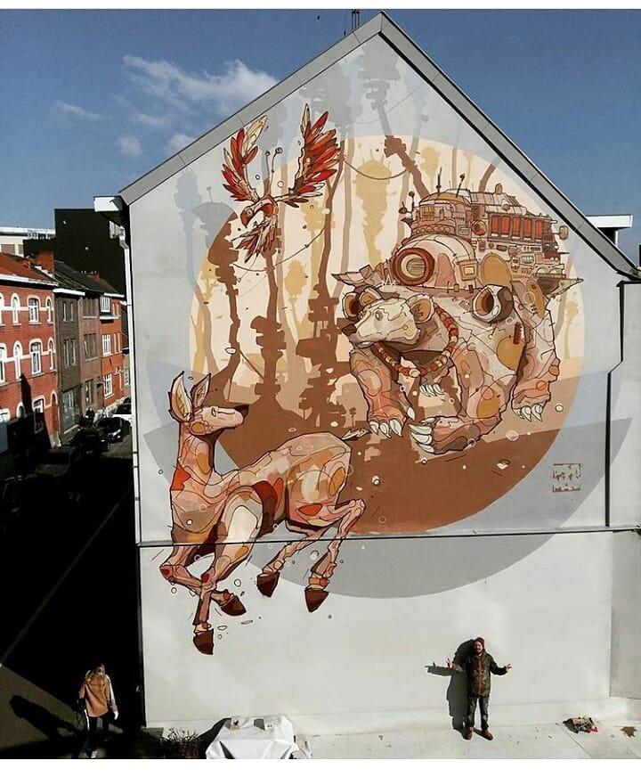 psoman hasselt for streetartfestival
