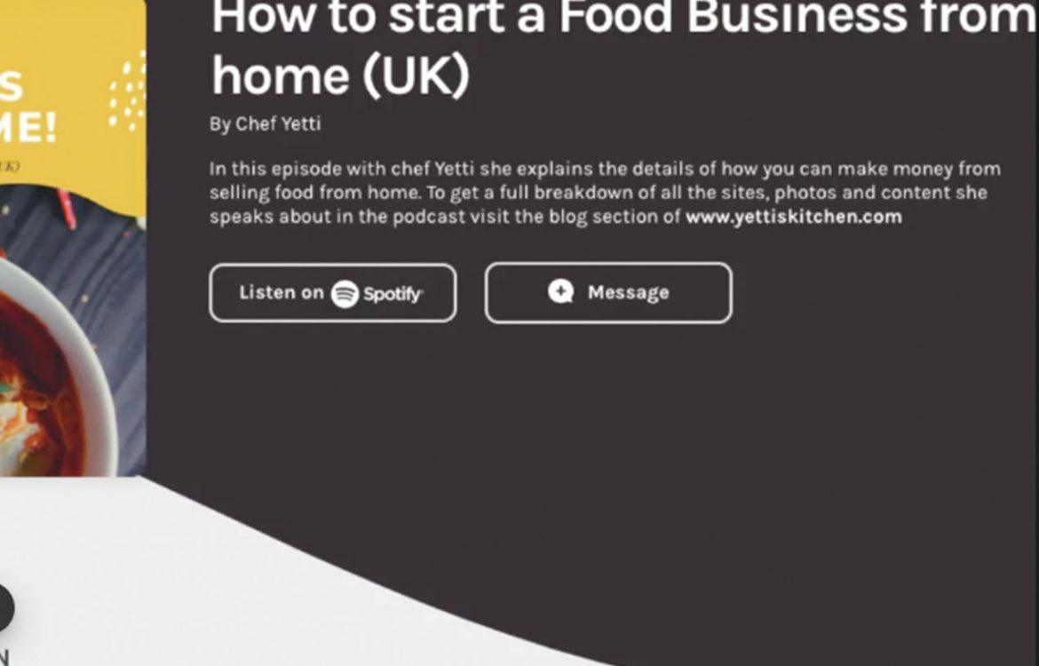 HOW TO START A FOOD BUSINESS FROM HOME