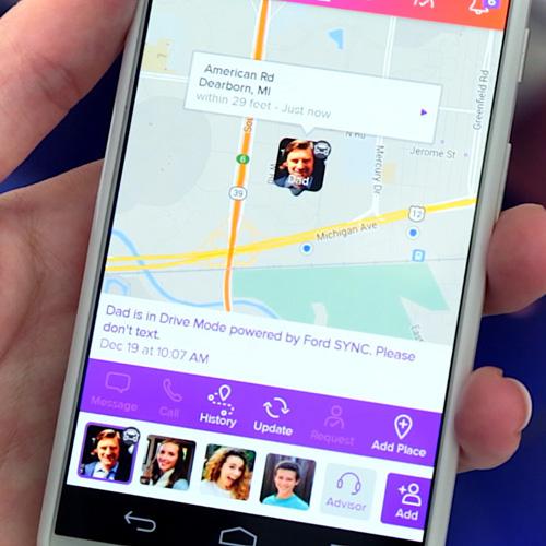 Met de app life360 kun je de hele familie in de gaten houden