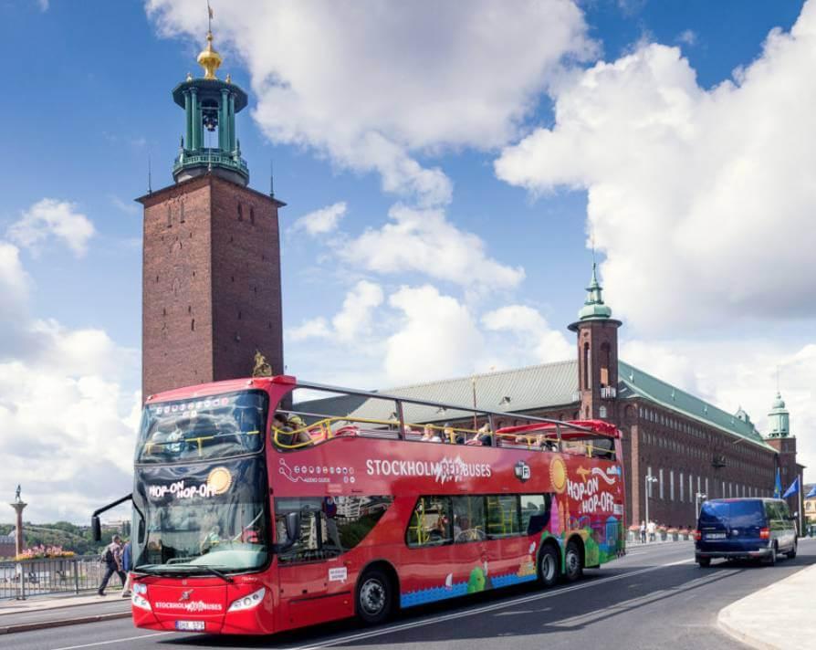 Vi åkte med Red Sightseeing i Stockholm