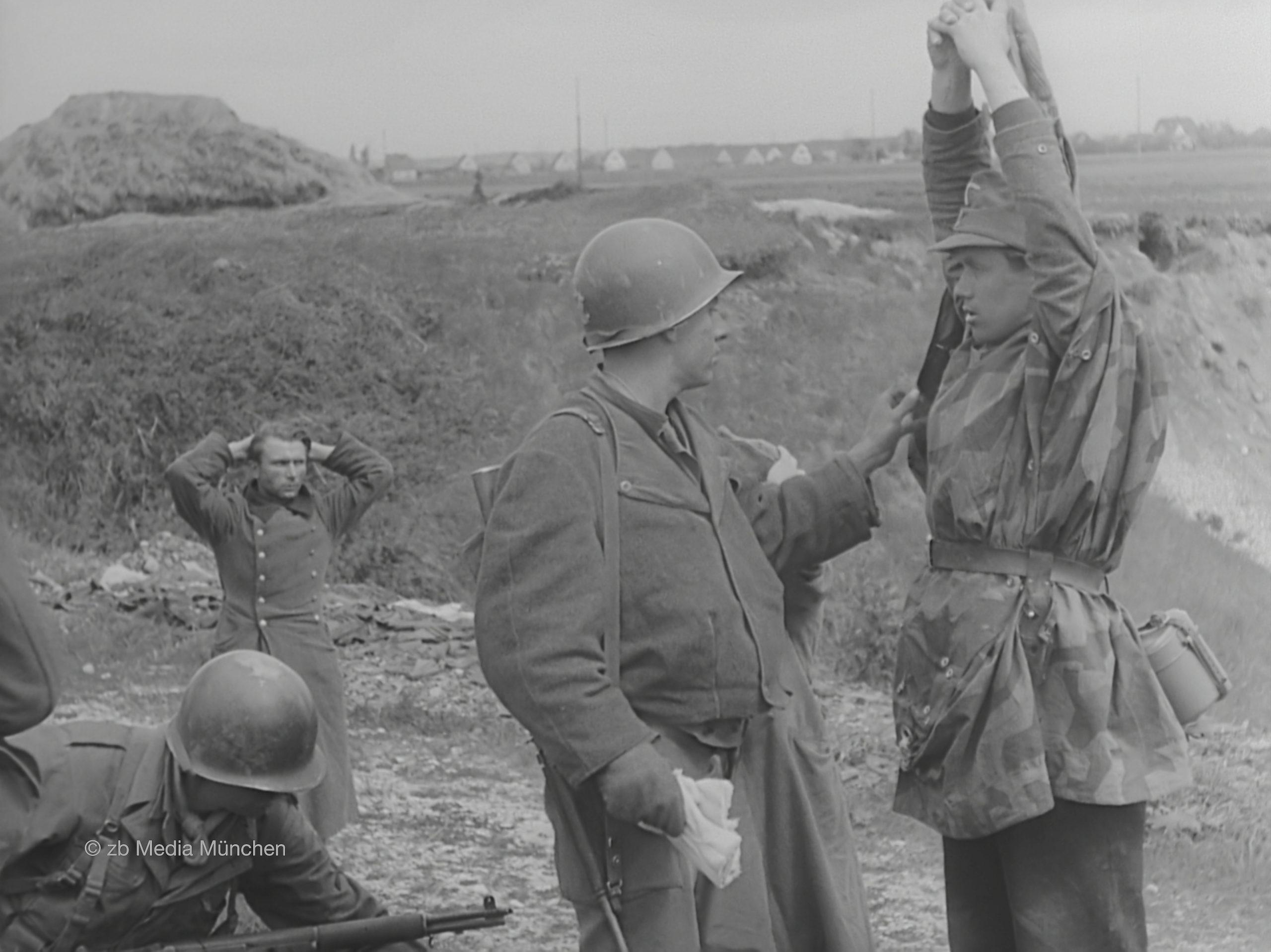 Gefangennahme deutscher SS Soldaten
