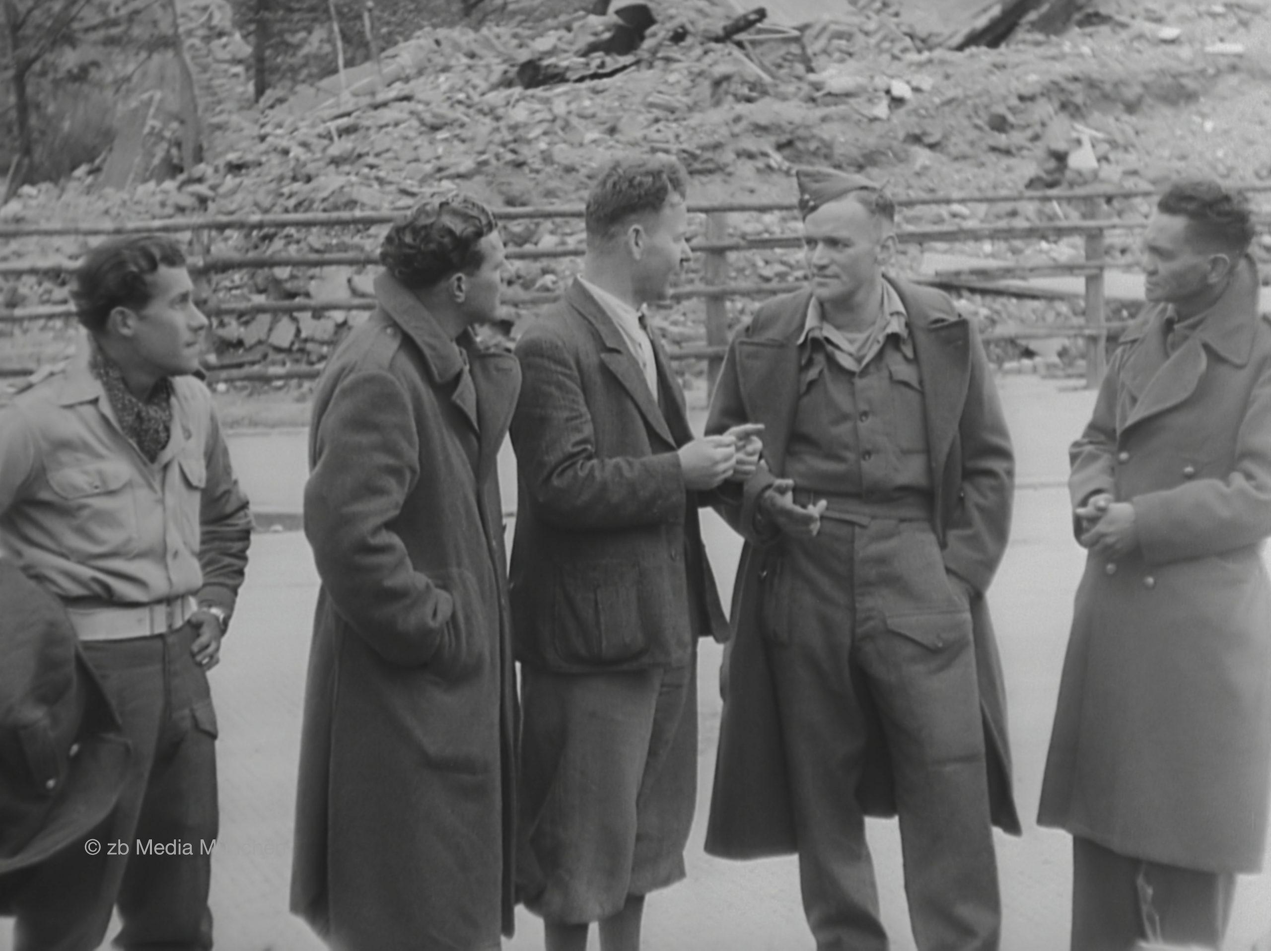 München Mai 1945 Amerikanische Offiziere
