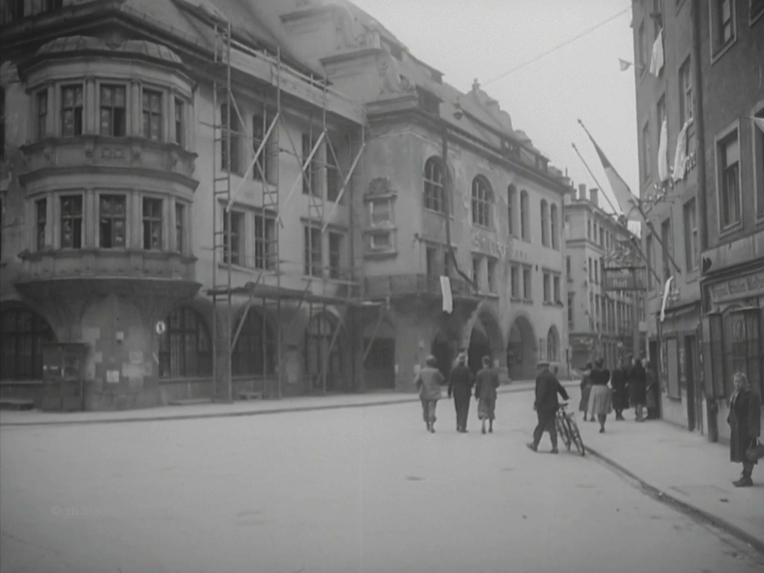 Hofbräuhaus München Mai 1945 Platzl