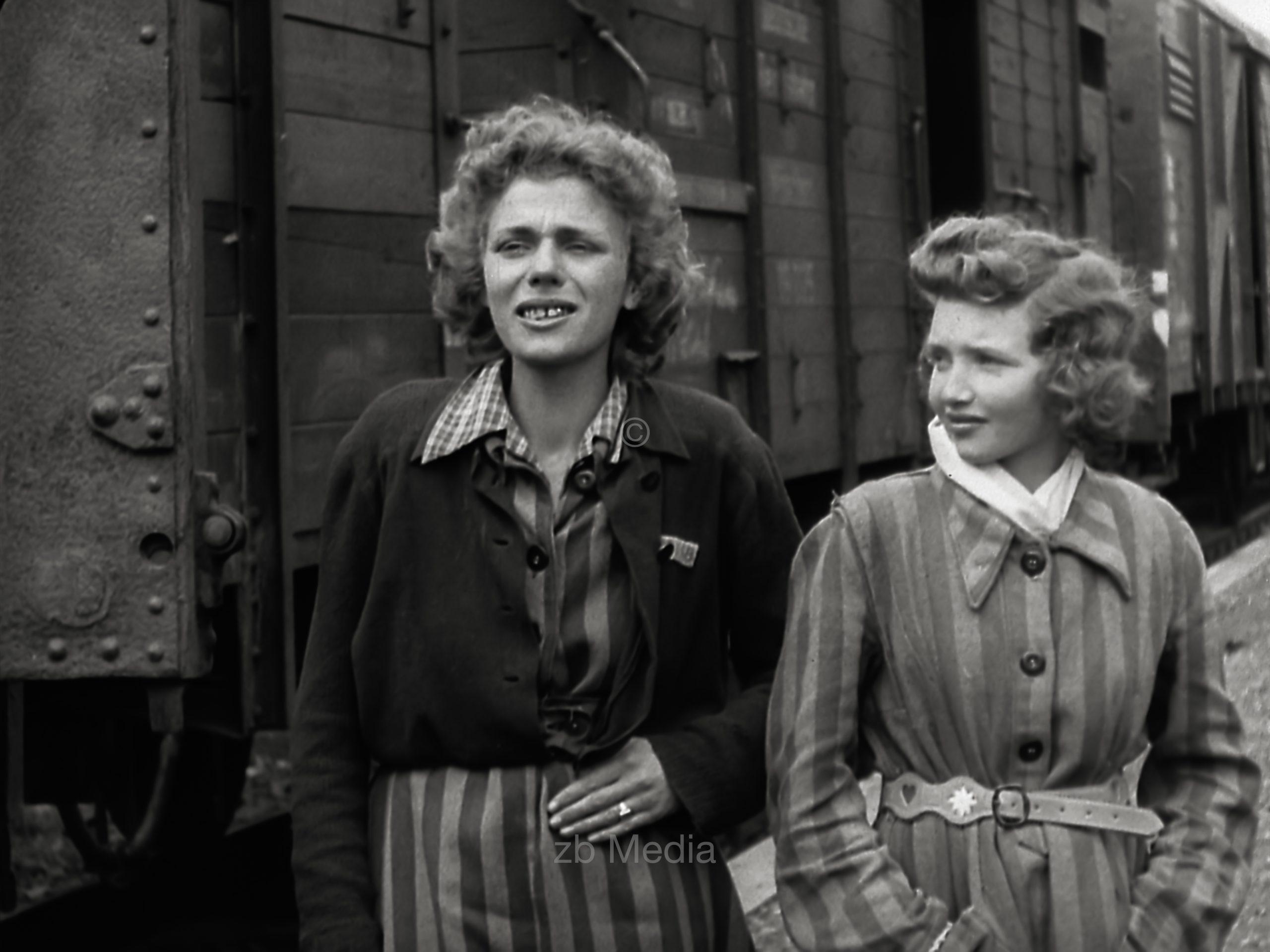Bahnhof Seeshaupt 1945. KZ Häftlinge