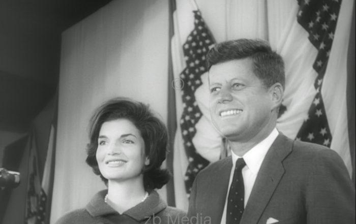 John F. Kennedy mit Jacqueline Kennedy 1960
