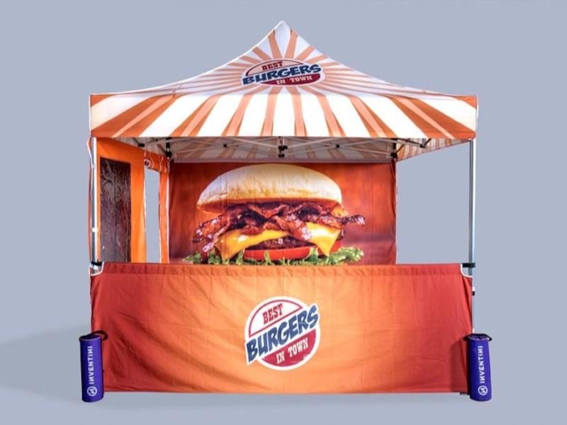 Pop up telte med logo